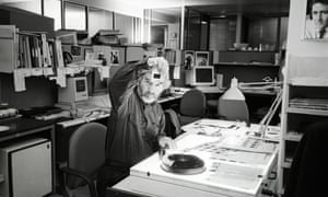 Tony McGrath, then the Observer's picture editor, at the paper's offices, circa 1992.