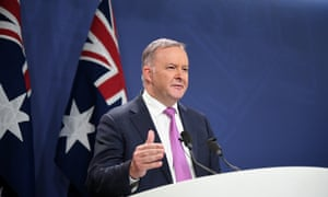 Labor leadership contender and member for Grayndler Anthony Albanese speaks to the media in Sydney, Monday, May 27, 2019. Albanese is currently running unopposed for the Labor leadership after Jim Chalmers announced he would not run. (AAP Image/Joel Carrett) NO ARCHIVING