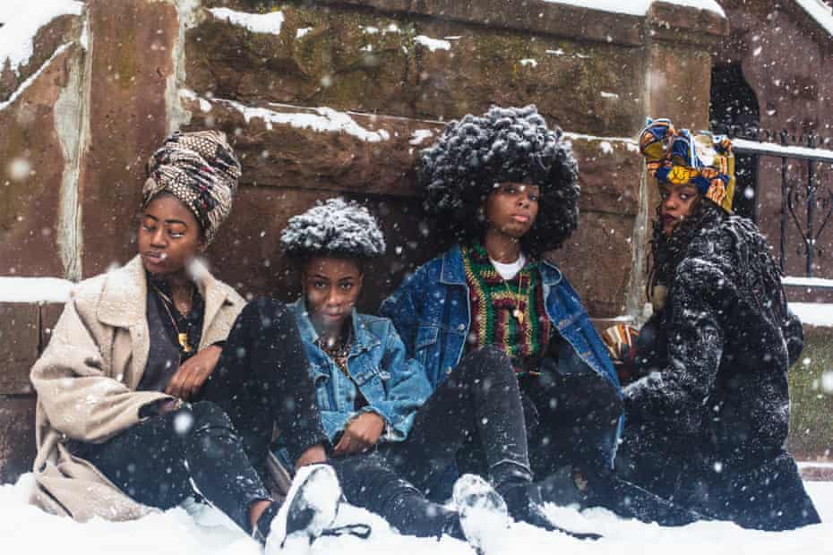 'The models were getting wet and were literally freezing' ... Four Queer African Women.