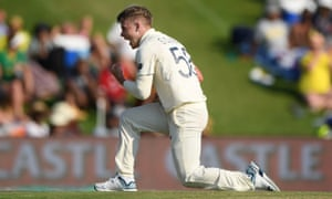 Sam Curran celebrates after taking the wicket of Quinton de Kock