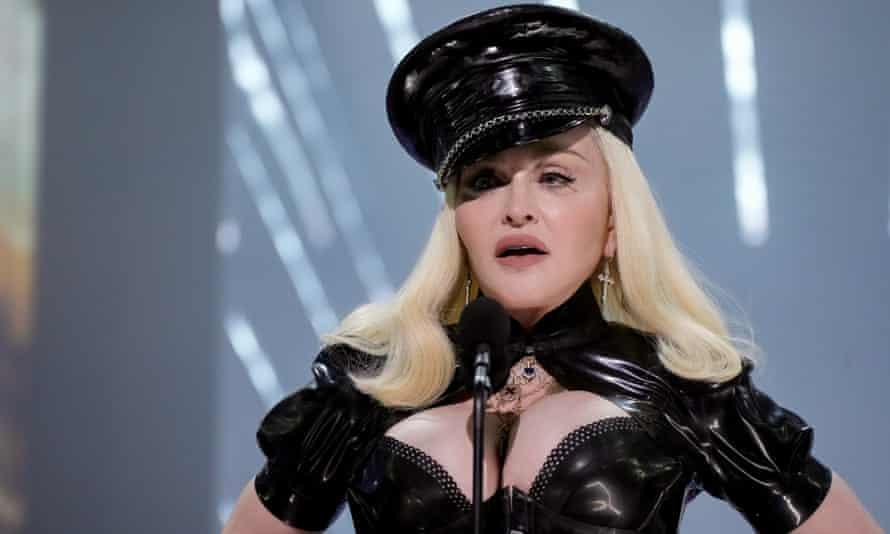 Madonna opens the MTV Video Music Awards on Sunday.