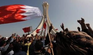 Arab spring protesters in Bahrain in 2011.