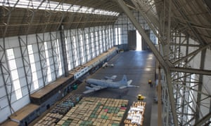 The zeppelin hangar in Santa Cruz is now used by the Brazilian air force.