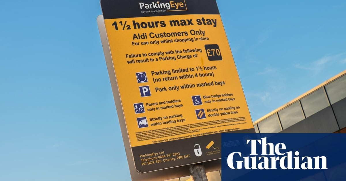 One thing I didn't budget for at Aldi: £70 fine for 15 minutes extra