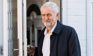Labour leader Jeremy Corbyn leaves his home in London on Monday.