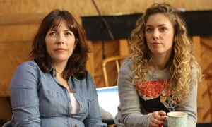 Mimi Poskitt and Molly Taylor during rehearsals for See Me Now at the Young Vic.