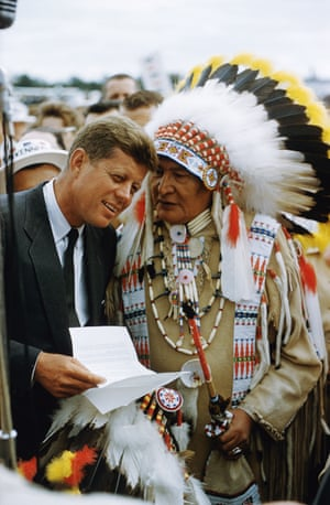 Two Chiefs: John F. Kennedy receives a request at the American Indian Chicago Conference, 1962