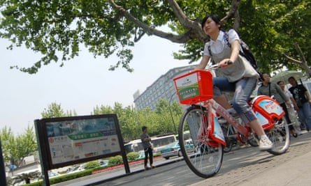 Public bike programs are expanding across Asia. Hangzhou, a city of 7 million people near Shanghai, leads Asia – if not the world – with 78,000 rental bikes.