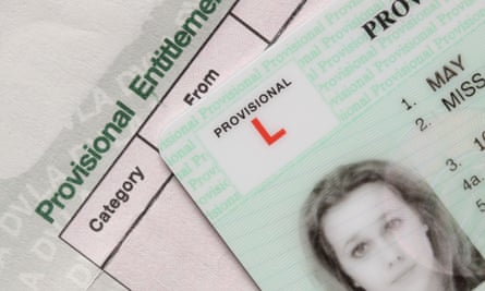 A provisional UK driving licence