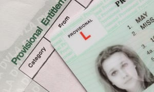 Miss-take ... a provisional licence.