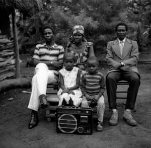Franscisca Ngecop and two generations of her family, near Atta village at Sonkolong Mbam/Golori