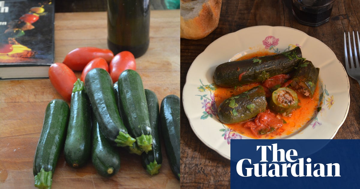 Rachel Roddy's recipe for stuffed courgettes | Food | The Guardian