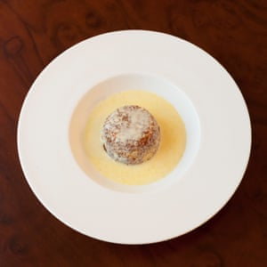 'Light on top, and sodden below': Lyle's Golden Syrup pudding and custard.