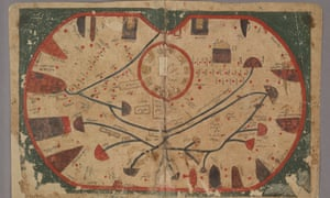Map of Sicily from the Book of Curiosities, Egypt, about AD1200.