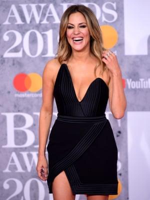 Caroline Flack attending the Brit Awards 2019 at the O2 Arena, London.