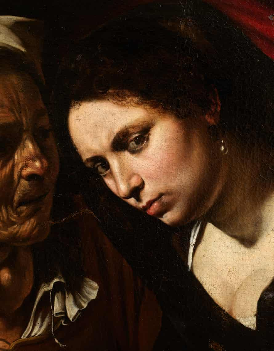 Detail from  Judith Beheading Holofernes.