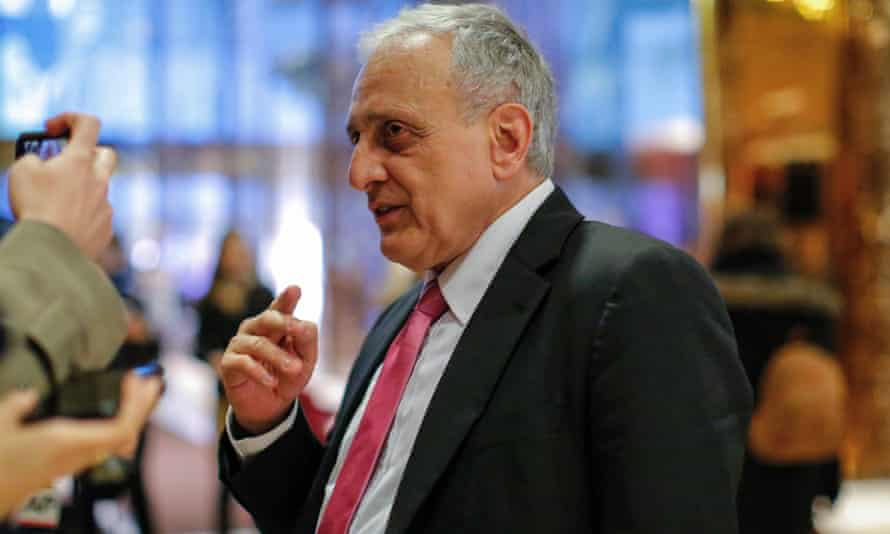 American businessman Carl Paladino speaks to the media at Trump Tower on 5 December.