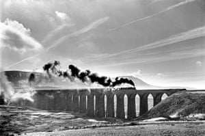 Ribblehead viaduct on the Settle to Carlisle railway, Yorkshire, 1986