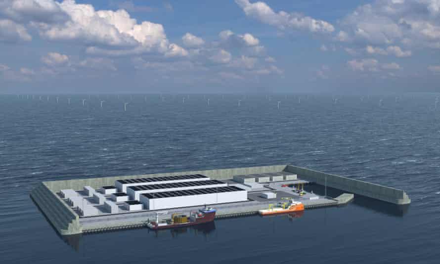 Simulation of Denmark's clean energy island