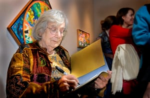 Dahlov Ipcar, pictured in 2007 at an art exhibition to celebrate her 90th birthday in Freeport