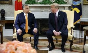 Viktor Orbán and Donald Trump.