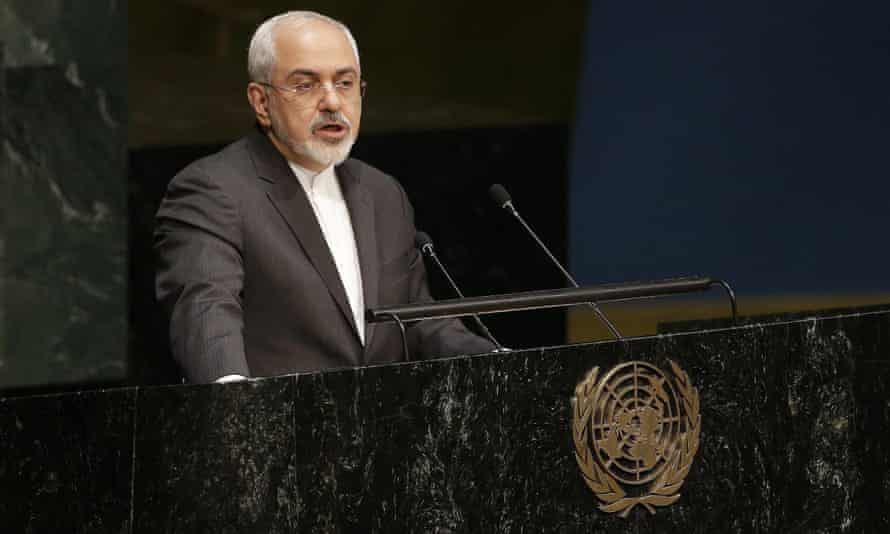 Iran's foreign minister, Mohammad Javad Zarif speaks at the review conference of the parties to the treaty on the non-proliferation of nuclear weapons at the UN in New York.
