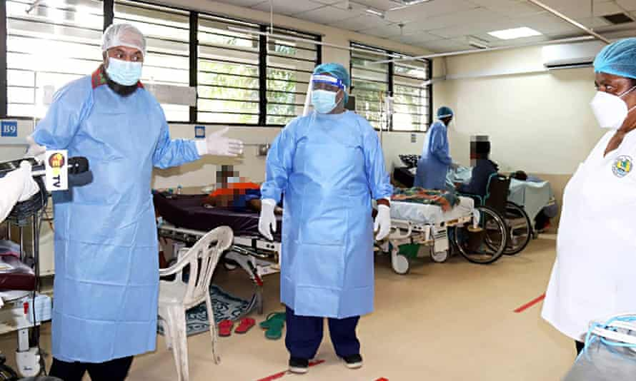 Inside the Covid isolation ward at Port Moresby general hospital, Papua New Guinea