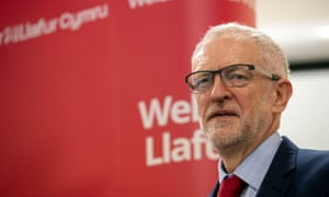 Labour party leader Jeremy Corbyn speaks at the Pill Millennium Centre, Newport, after Ruth Jones won the Newport West byelection.