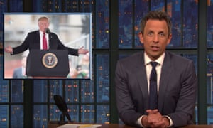 'How did we end up with a president that sounds like Jar Jar Binks' ... Seth Meyers