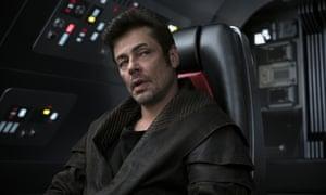 Benicio del Toro in The Last Jedi.