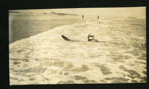 Agatha Christie surfing. 'Hopefully people will get a view of the total person,' her grandson said.