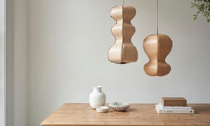 Alp lights are hand-made from leather off-cuts and stitched with sea grass cord by designer Annick Petersen.Alp pendants, from £250, alp-design.co.uk