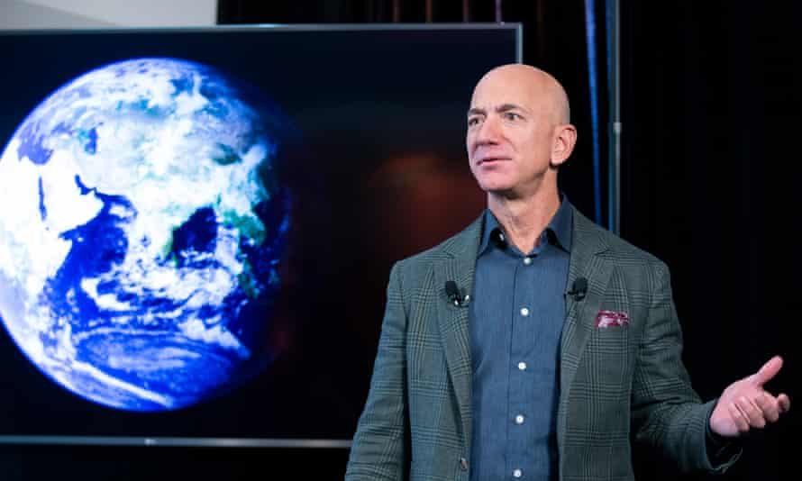 Jeff Bezos, who will go into space next month.