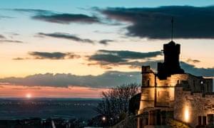 Lincoln Castle at dusk