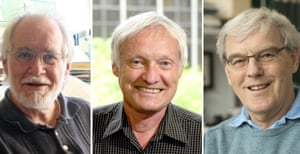Jacques Dubochet, Joachim Frank and Richard Henderson, winners of this year's Nobel prize in chemistry.