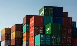 Shipping containers at Southampton docks