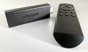 Amazon Fire TV Stick and remote.