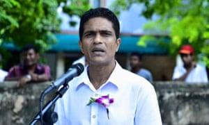 Ahmed Nihan Hussain Manik, leader of the Maldives' majority party.