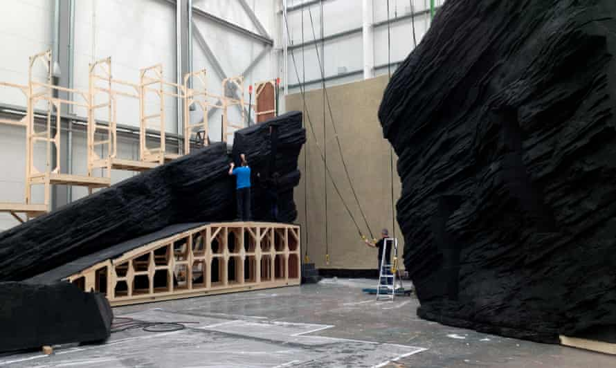 The set for Raven Girl by the Royal Opera House head scenic artist Emma Troubridge and designer Catherine Smith.