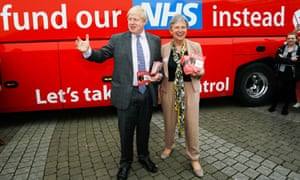 Ticket to ride: Boris Johnson and Gisela Stuart lauch the Vote Leave campaign's bus tour.