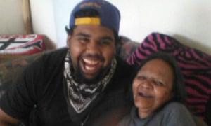 Wonyarna Edwards with his grandmother,