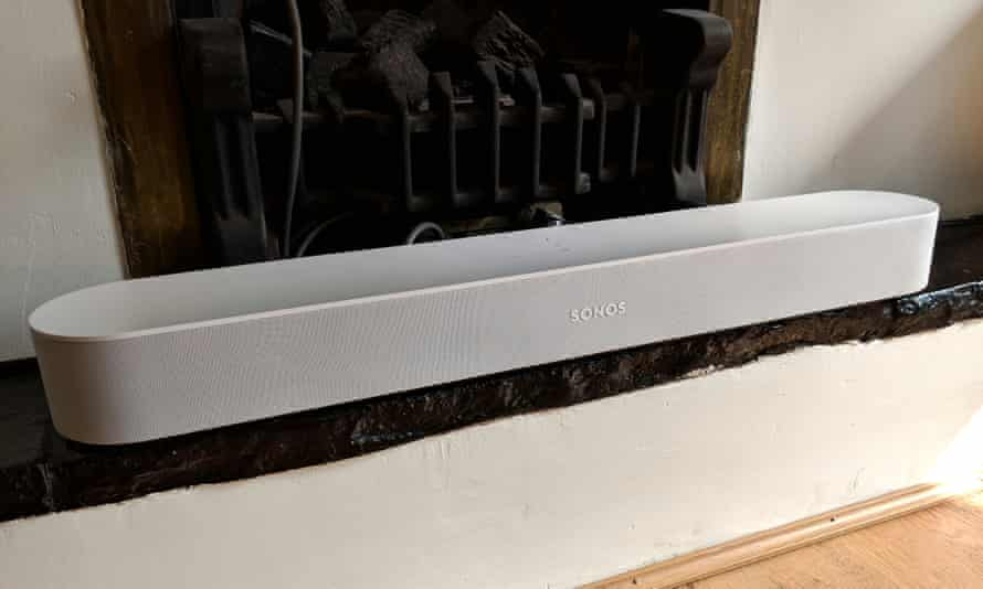 The Sonos Beam is a compact soundbar and smart speaker with Alexa built-in.