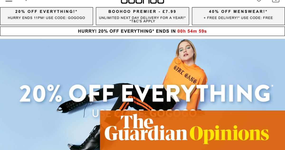 b22966c151 Boohoo says its 'sale' will end in minutes – why is it back in a couple of  hours? | Money | The Guardian