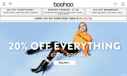 Boohoo website