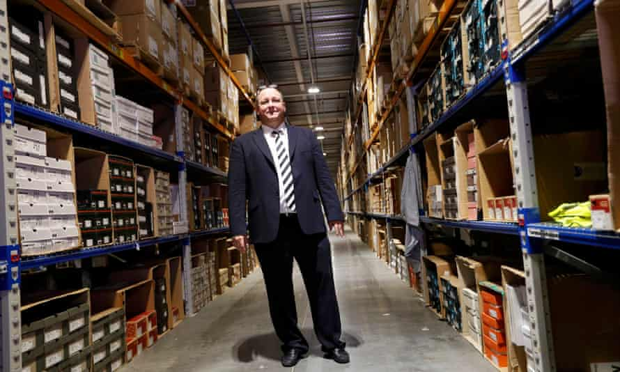 Mike Ashley at the controversial Shirebrook warehouse