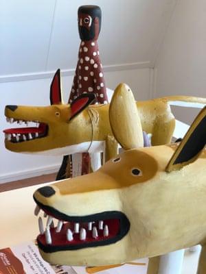 Aurukun dog sculptures