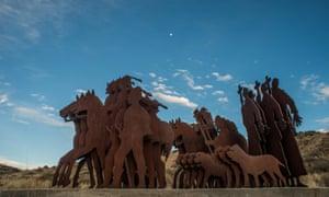 commemorative sculpture is at the base of Cerro Tome, near Albuquerque.