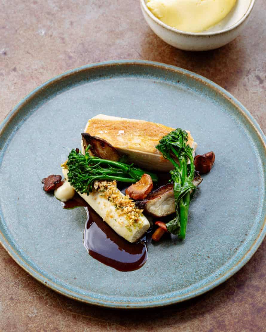 The Beaumont's artichoke-stuffed chicken breast with pommes puree, mushroom and hazelnut: 'Deceptively simple-sounding.'