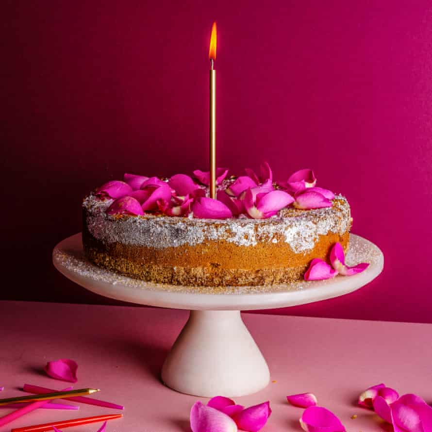 Niloufer Ichaporia King's cardamom cake chosen by Alice Waters The Dish I Can't Live Without Food and prop styling: Polly Webb Wilson Observer Food Monthly OFM January 2018