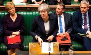 Theresa May at the Dispatch Box